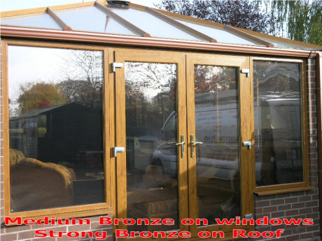 Solar Protection Medium Bronze Reflective Window Film