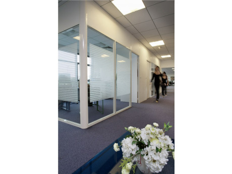 Decorative Frosted Striped Privacy Film