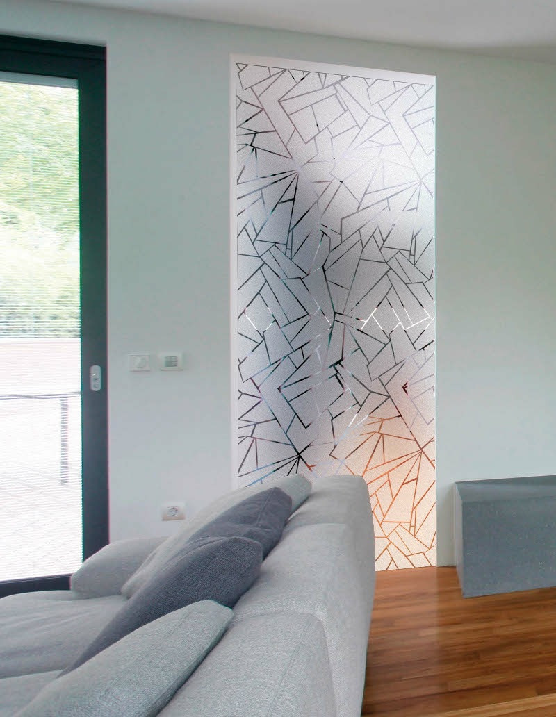 crazy frosted patterned privacy window film