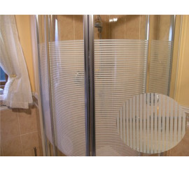 Frosted Bold Striped Patterned Privacy Window Film