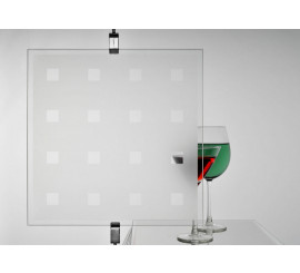 Frosted Clear Squares Privacy Window Film