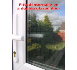 Frosted Squares Patterned Privacy Window Film