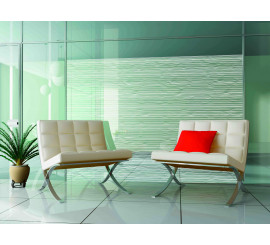 Frosted Fine Wavy Lines Patterned Privacy Window Film