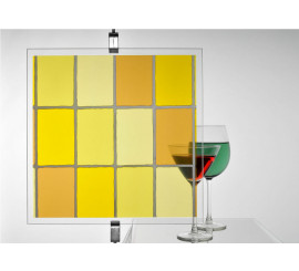 Leaded Light Yellow Stained Glass Patterned Window Film