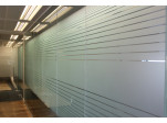 Frosted Clear Lines Office