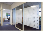 Frosted Clear Squares Privacy Glass Film