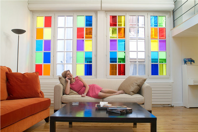 Coloured window film