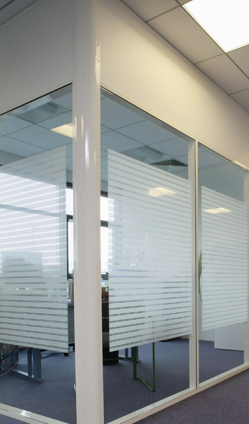 Decorative Striped Patterned Privacy Window Film With 40