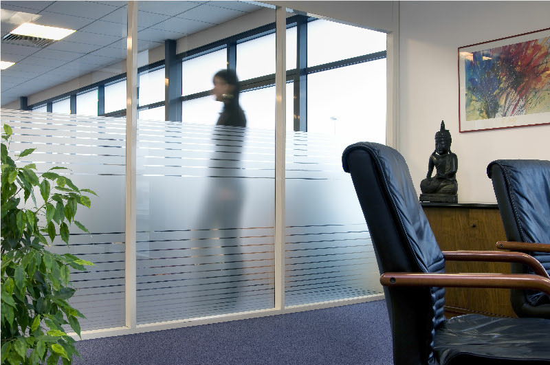 Frosted clear lines office staff