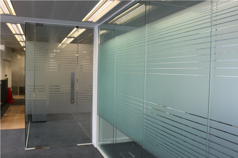 Frosted Clear Lines Patterned Privacy Window Film Offering