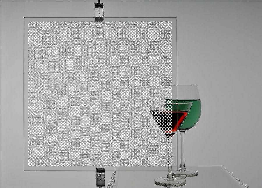White Dots Patterned Privacy Window Film For Diy On