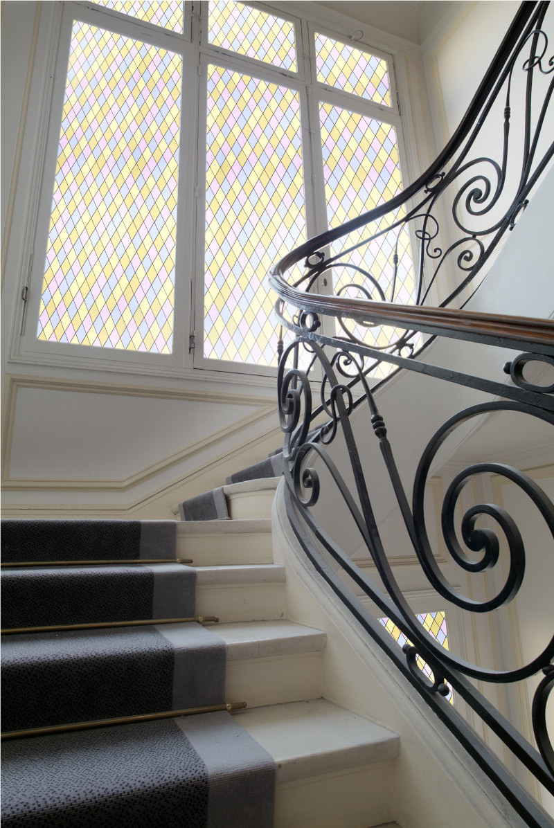 Leaded Light Diamond Stained Glass Patterned Window Film ...
