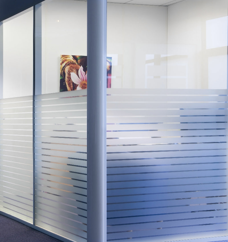 White Bold Striped Patterned Privacy Window Film With 40 Off